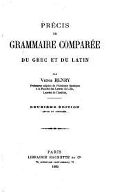 Précis de grammaire comparée du grec et du latin