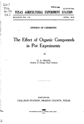 The effect of organic compounds in pot experiments
