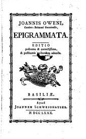 Epigrammata. Ed. postrema et correctissima et posthumis quibusdam adaucta