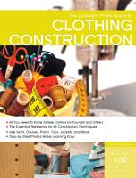 The Complete Photo Guide to Clothing Construction PDF