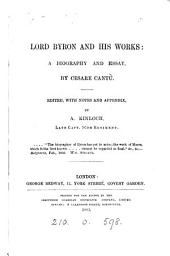Lord Byron and his works, ed. [and tr.] by A. Kinloch