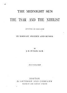 The Midnight Sun  the Tsar and the Nihilist Book