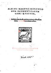 Institutionum grammaticarum libri quatuor