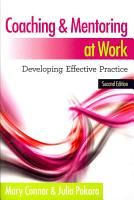 Coaching And Mentoring At Work  Developing Effective Practice PDF