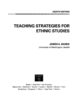 Teaching Strategies for Ethnic Studies PDF
