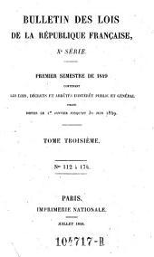 Bulletin des lois de la Republique Francaise: Volume10;Volume1841;Volume1843;Volume1849