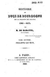 Histoire des ducs de Bourgogne de la maison de Valois, 1364-1477: Philippe-le-bon, Volume3