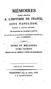 Mémoires pour servir à l'histoire de France, sous Napoleon: Volume7