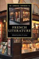 The Cambridge Companion to French Literature PDF