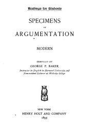 Specimens of argumentation; modern