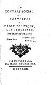 Du contrat social, ou, Principes du droit politique