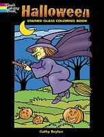 Halloween Stained Glass Coloring Book PDF