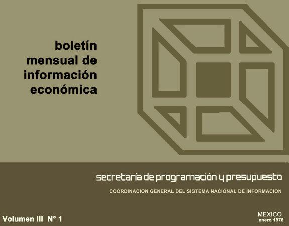 Boletin Mensual De Informacion Economica 1979 Enero Volumen Iii Numero 1