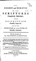 The Heresy and Heretic of the Scriptures Completely Described PDF