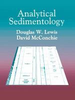 Analytical Sedimentology PDF