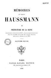 Mémoires du baron Haussmann ...