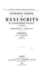 Catalogue général des manuscrits des bibliothèques publiques de France: Volume36,Partie1