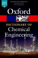 A Dictionary of Chemical Engineering PDF