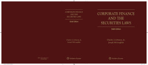 Corporate Finance and the Securities Laws  6th Edition PDF