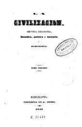 La Civilización, 2: revista religiosa, filosófica y literaria de Barcelona