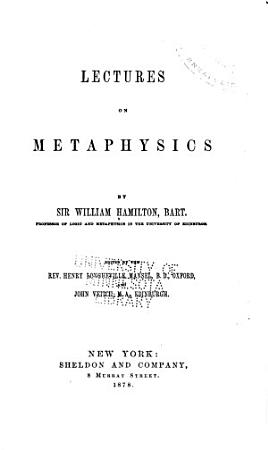 Lectures on Metaphysics PDF