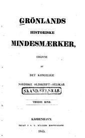 Grönlands historiske mindesmærker: Bind 3