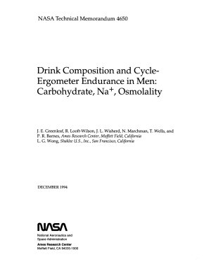 Drink Composition and Cycle ergometer Endurance in Men  Carbohydrate  Na     Osmolality