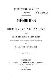 D'une époque de ma vie (1820-1822).: Mémoires du comte Jean Arrivabene