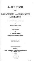 Jahrbuch f  r romanische und englische Literatur PDF