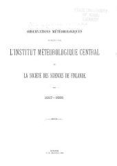 Observations météorologiques publiées par l'Institut météorologique central