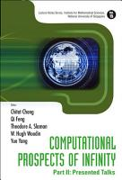 Computational Prospects of Infinity  Presented talks PDF
