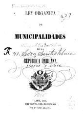 Ley organica de municipalidades de la República Peruana