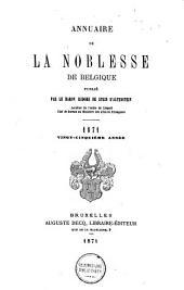 Annuaire de la noblesse de Belgique: Volume22