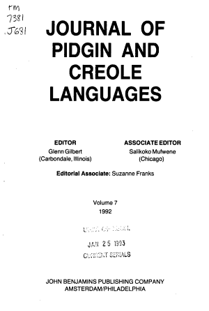 Journal of Pidgin and Creole Languages