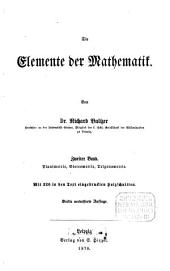 Die Elemente der Mathematik: Planimetrie, Stereometrie, Trigonometrie, Band 2