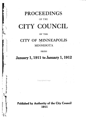 Proceedings of the City Council of the City of Minneapolis: Volume 37