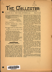 The Collector: A Monthly Magazine for Autograph and Historical Collectors, Volume 18, Issue 11