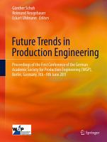 Future Trends in Production Engineering PDF