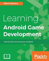 Learning Android Game Development PDF