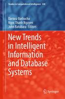 New Trends in Intelligent Information and Database Systems PDF