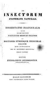 De insectorum systemate naturali: Dissertatio inauguralis
