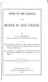 Notes on the Radiata in the Museum of Yale College, with Descriptions of New Genera and Species: Volume 2
