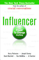 Influencer  The Power to Change Anything  First edition  Hardcover