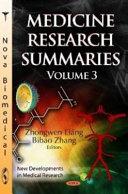 Medicine Research Summaries