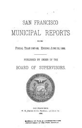 San Francisco Municipal Reports for the Fiscal Year ...