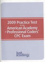 2009 Practice Test for the American Academy of Professional Coders  CPC Exam PDF