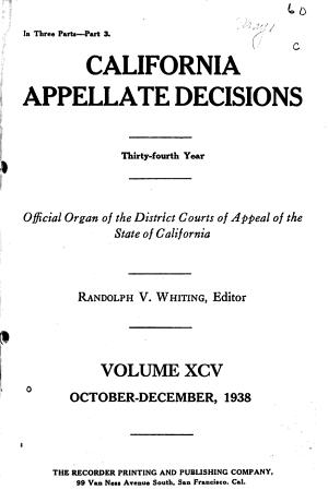 California Appellate Decisions PDF