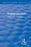 Routledge Revivals  English Literature  1962  PDF