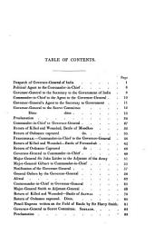 The War in India: Despatches of Lt.-Gen. Viscount Hardinge, Governor-general of India, General Lord Gough, Commander-in-chief, Majr.-Gen. Sir Harry Smith, and Other Documents, Comprising the Engagements of Moodkee, Ferozeshah, Aliwal, and Sobraon