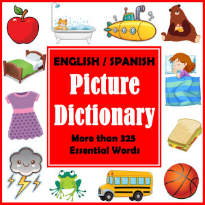 English Spanish Picture Dictionary  First Spanish Word Book with More than 325 Essential Words